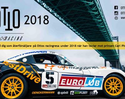 Otto Racing – datum för racinghelgerna är klara – ta chansen att vara med på årets Otto-satsning!